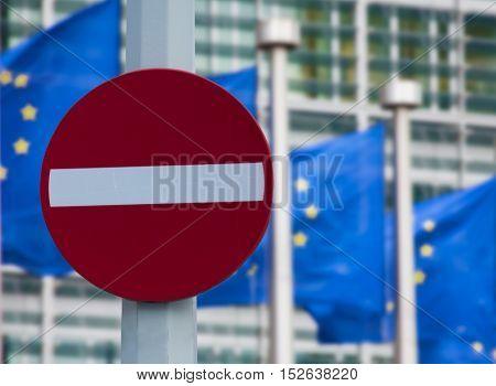 European commission sanctions against Russia concept