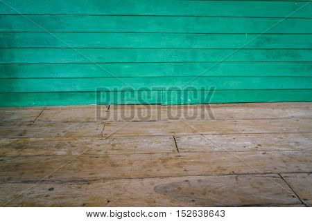 Dimensional Room with a Wood Paneled Wall and Wood Floor