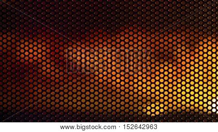 Finely perforated round hole mesh on a blurred background