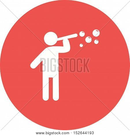 Blowing, bubbles, soap icon vector image. Can also be used for people. Suitable for web apps, mobile apps and print media.