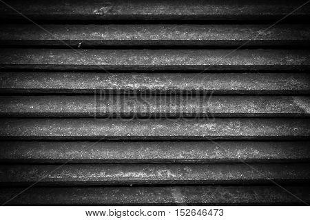 Ventilation metal grating. Vintage metal grid background. Black and white