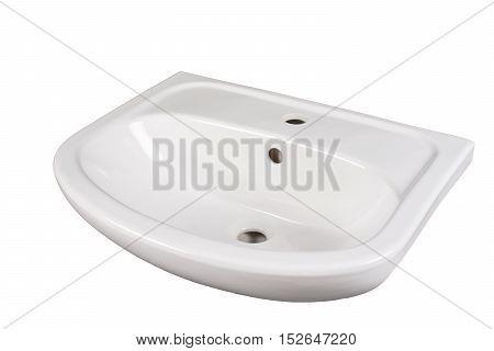 white washbasin isolated on a monotone background
