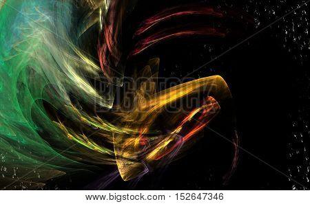 Fractal Art. Colorful magic image of daydream.