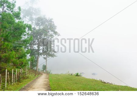 beautiful view landscape or nature and sky for top travel in thailand and unseen thailand at Thailand