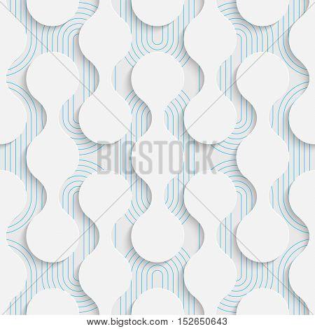 Seamless Luxury Damask Pattern. White and Blue Minimalistic Ornament. Geometric Decorative Wallpaper. Abstract Fashion Background. Print Graphic Design.