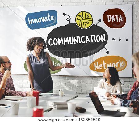 Internet Connection Word Diagram Concept