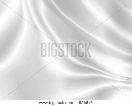 White Satin Horizontal Background