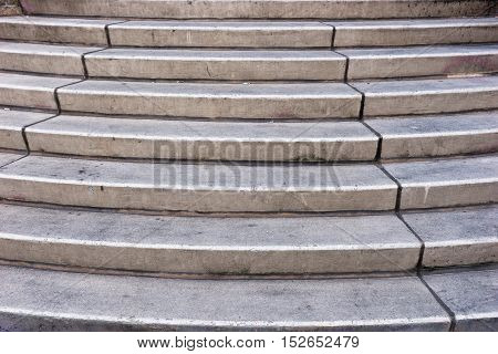 Granite stairs steps background - construction detail, texture