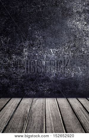 Empty wooden table for product display. Abstract Black color texture for your design