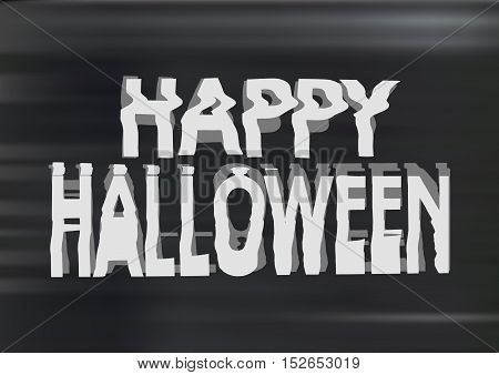 Bad Jammed Distorted  Photocopy Style Spooky Happy Halloween Typography