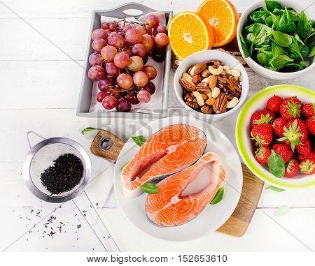 Food Rich In Antioxidant.