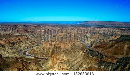 landscape of oldest in the world Fish river Canyon south Namibia