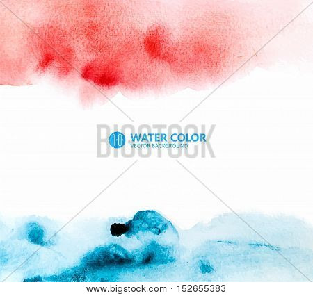 Hand-painted watercolor background, abstract graphics, vector format.