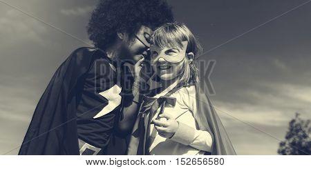 Children Childhood Super Hero Concept