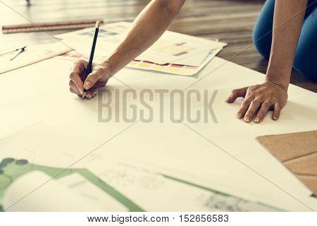 Design Studio Creative Occupation Imagination Copy Space Concept
