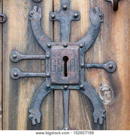 Keyhole Of Old Doorlock