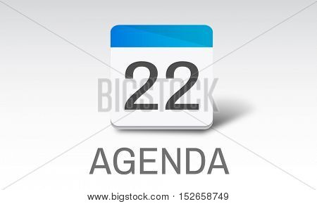 Agenda Events Reminder Meeting Appointment Concept