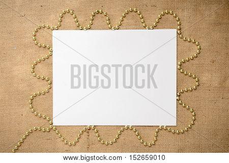 White paper on sackcloth - Season Background Frame