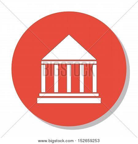 Vector Illustration Of Education Symbol On University Building Icon. Premium Quality Isolated Educat