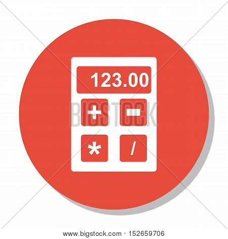 Vector Illustration Of Education Symbol On Calculator Icon. Premium Quality Isolated Financial Icon