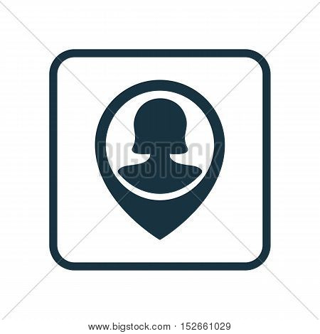 Vector Illustration Of Human Resources Symbol On Pin Female User Icon. Premium Quality Isolated Pin