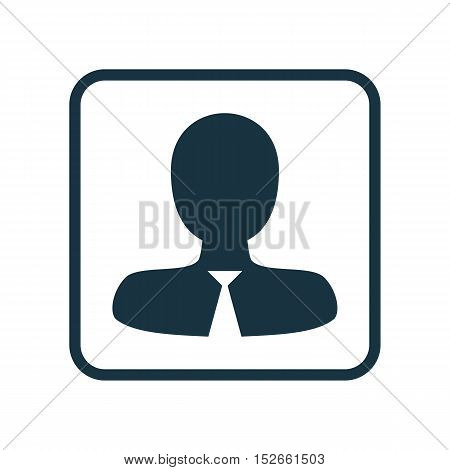 Vector Illustration Of Human Resources Symbol On Male Employee Icon. Premium Quality Isolated Manage