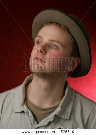 Man In Grey Hat