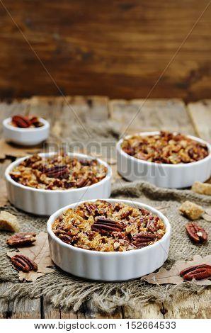 Sweet Potato Casserole with Pecan oat crumbs.