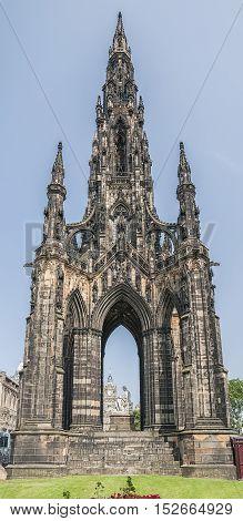 The walter scott monument on princess street Edinburgh Scotland.