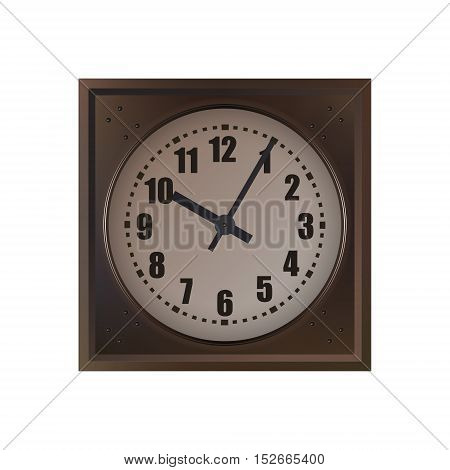 Wall Clock isolated on white background. Vector Illustration