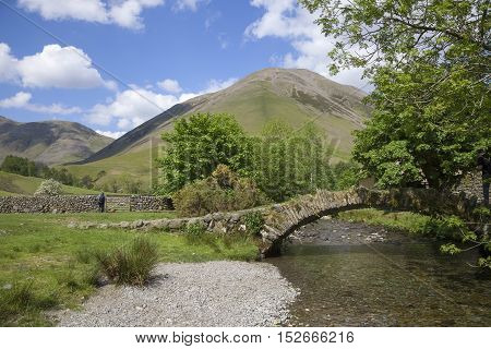 Packhorse Bridge at Wasdale Head, The Lake District, Cumbria, England