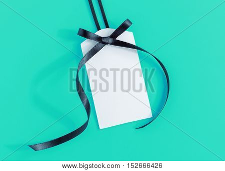 Tag With Black Ribbon