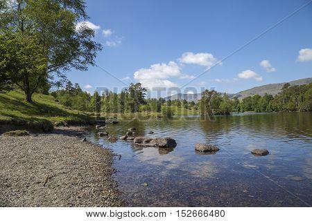 Popular tourist destination of Tarn Hows, Lake District, Cumbria, England.