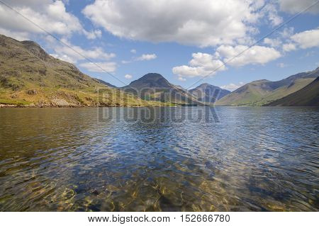 Summers day at Wast Water, Lake District, Cumbria, England
