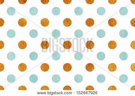 Watercolor Polka Dot Background.
