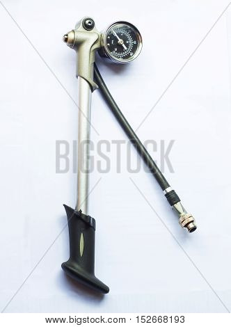 High pressure pump for bicycle tool on white background