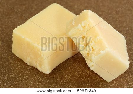 asian confectionery two pieces of plain barfi