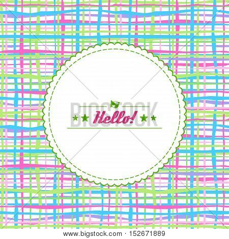 Background - colorful stripes and lines with hello in center.. Vector.