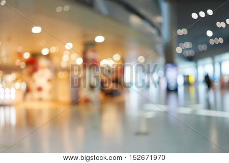 abstract background of shopping mall shallow depth