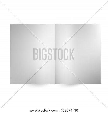 Vector blank magazine spread on white background. Illustration