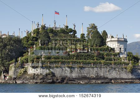 Isola Bella is one of the Borromean Islands of Lago Maggiore in north Italy with a beautifull garden.