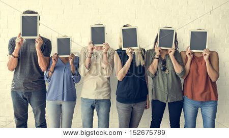 Business People Using Digital Tablet Social Concept