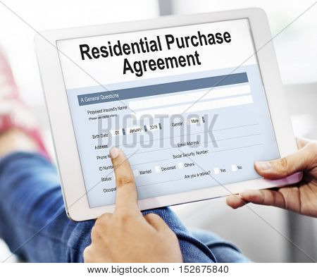 Residential Loan Purchase Agreement Estate Living Concept