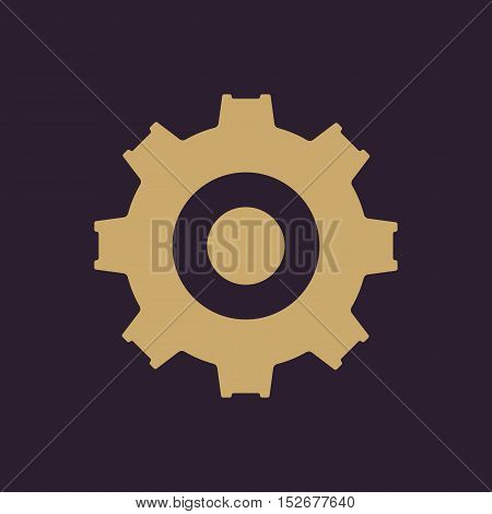 The gear icon. Settings symbol. Flat Vector illustration