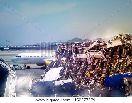 Plane ruins