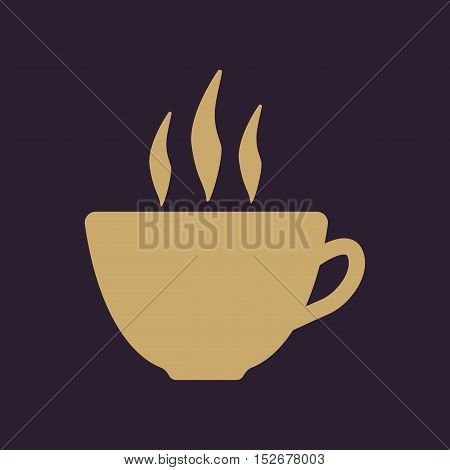 The coffee and cup icon. Tea symbol. Flat Vector illustration