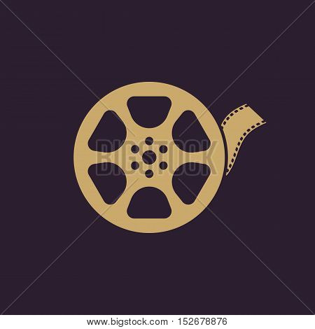 The video icon. Movie symbol. Flat Vector illustration