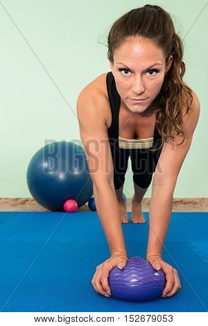 Practicing Balance With Fitness Ball