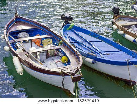 old fishing boat in Portovenere in italy