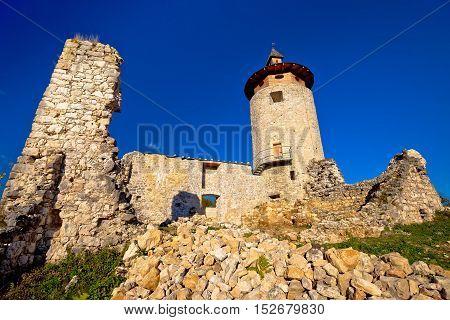 Old Dreznik Grad town ruins in Korana river canyon Plitvice lakes national park of Croatia
